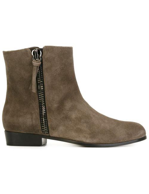 Giuseppe Zanotti Design | Мужское Серый Side Zip Ankle Boots