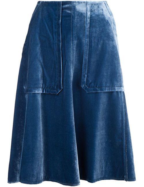 Dorothee Schumacher | Женская Синяя Юбка С Накладными Карманами