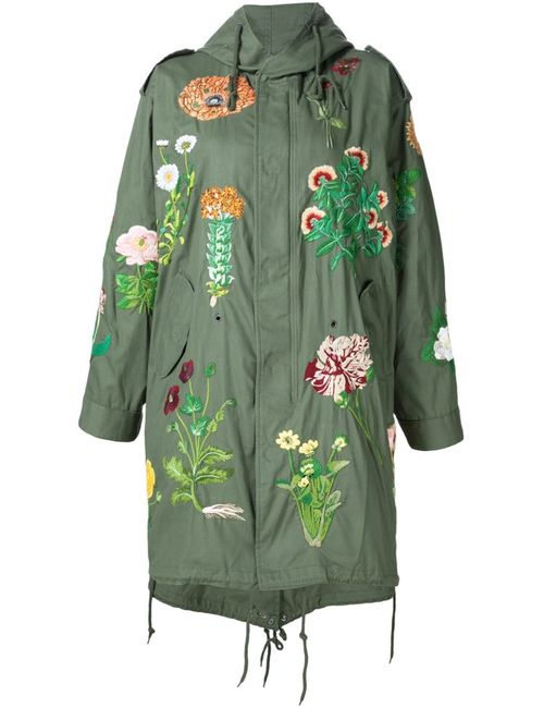 Creatures of the Wind | Женское Зелёный Jarde Hand Embroidered Parka