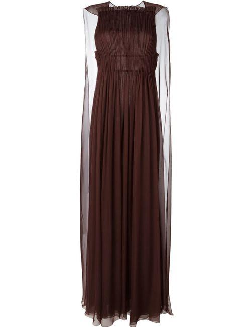 Valentino | Женское Красный Pleated Evening Dress