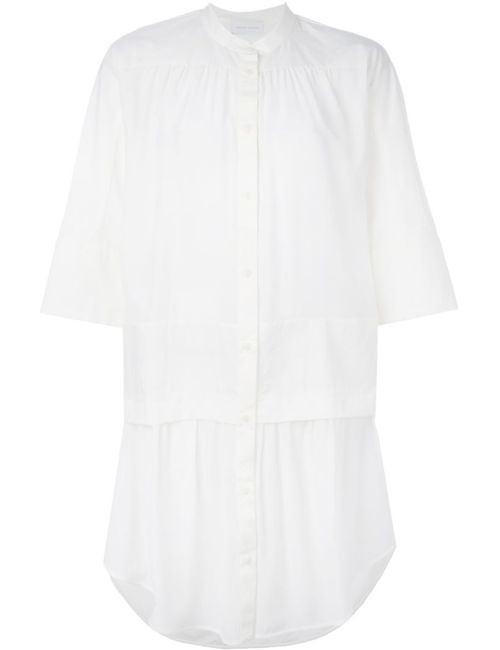 Christian Wijnants | Женское Белый Dopa Drop Waist Pleated Shirt Dress