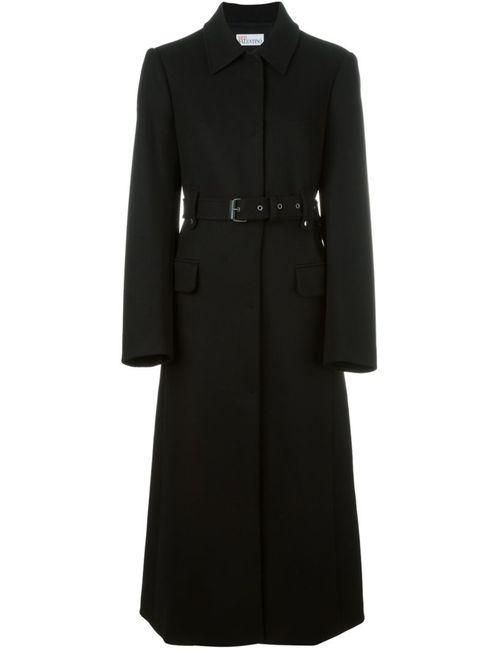 Red Valentino | Женское Черный Однобортное Пальто С Поясом