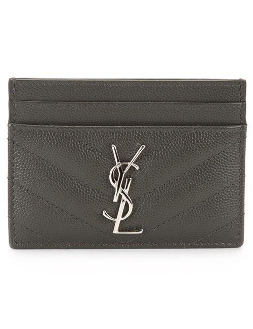 Saint Laurent   Женское Серый Monogram Cardholder