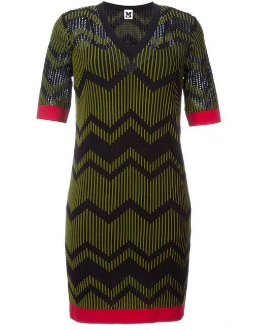 Missoni | Женское Черный Платье Зигзагообразной Вязки