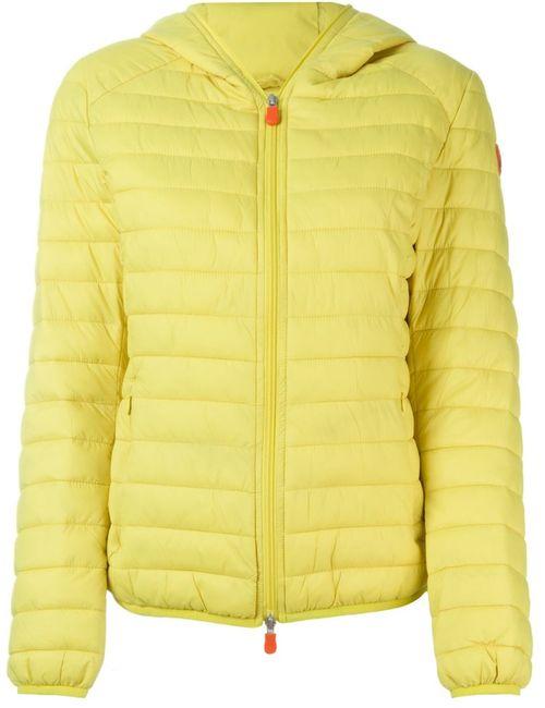 Save The Duck | Женское Желтый Hooded Puffer Jacket