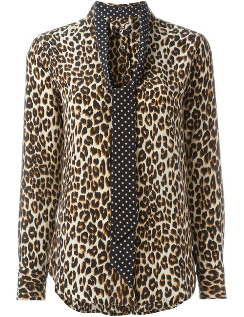 Equipment By Kate Moss | Женская Nude & Neutrals Рубашка С Леопардовым Принтом