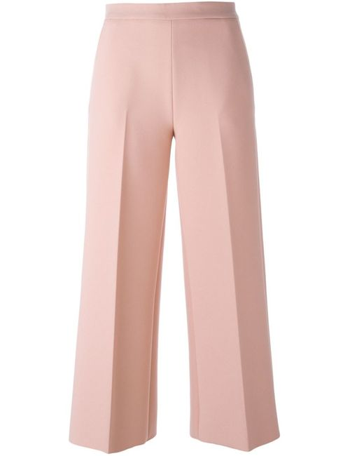 MSGM | Женское Розовый Cropped Flared Trousers