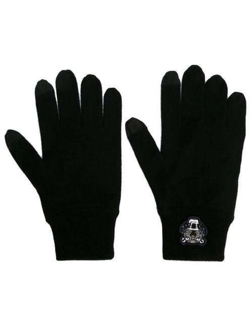 Kenzo | Мужские Чёрные Перчатки Mini Tiger