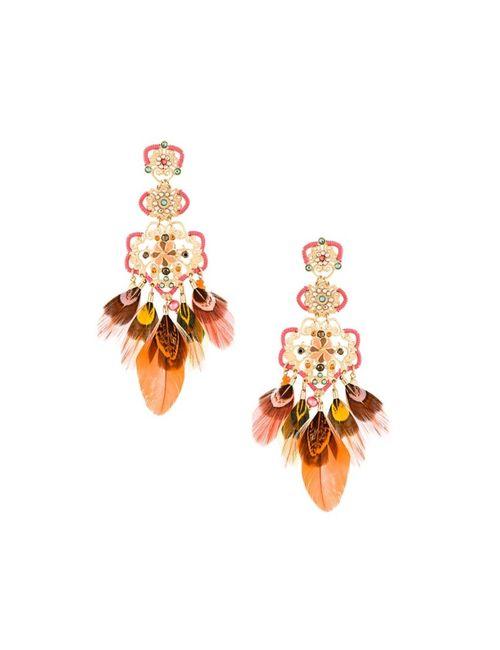 GAS BIJOUX | Женское Красный Tapachula Feather Earrings