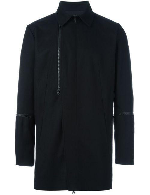 Y-3 | Мужское Чёрное Пальто На Молнии