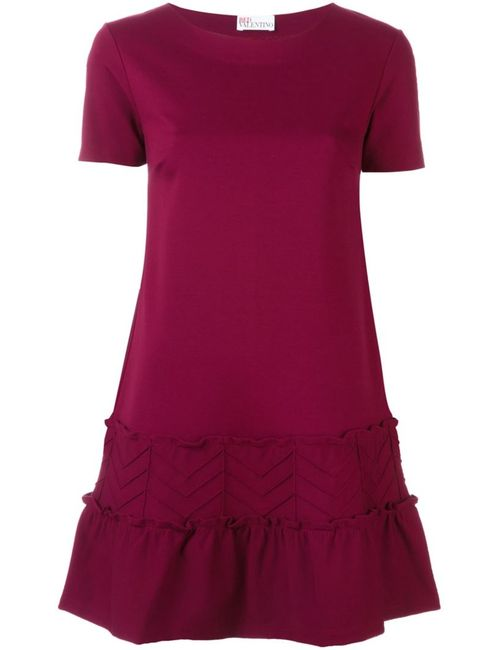 Red Valentino | Женское Красное Платье С Оборками