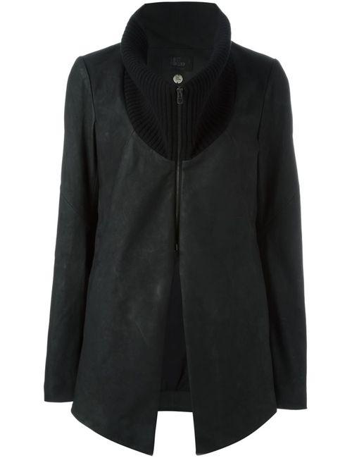 Lost & Found Ria Dunn | Женская Чёрная Куртка С Шерстяным Воротником