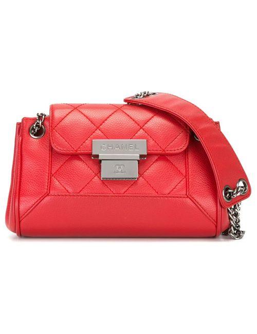 Chanel Vintage | Женская Красная Стеганая Сумка