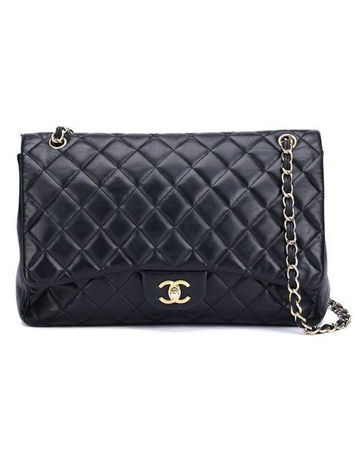 Chanel Vintage | Женская Черный Сумка На Плечо Maxi Flap