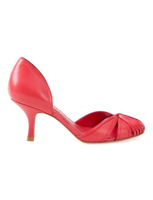 Sarah Chofakian | Женское Красный Round Toe Pumps