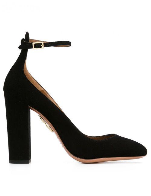 Aquazzura | Женские Чёрные Туфли С Завязками На Щиколотке