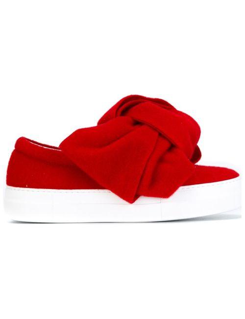 Joshua Sanders | Женское Красный Oversized Bow Slippers