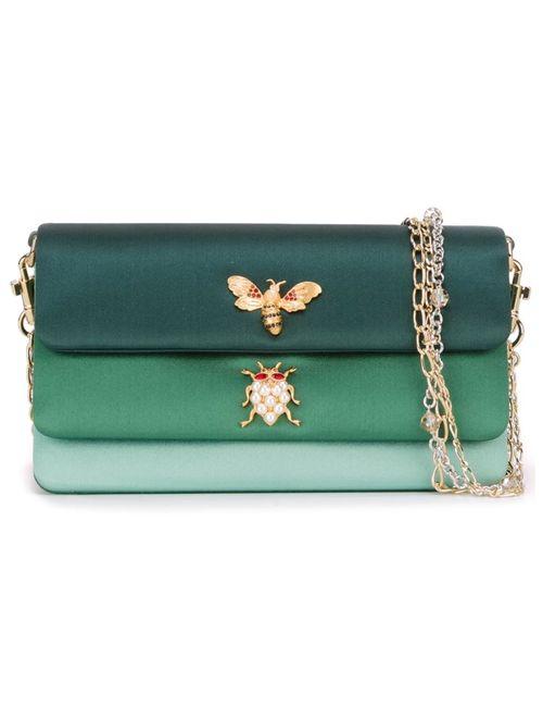 Dolce & Gabbana | Женское Зелёный Embellished Panelled Shoulder Bag