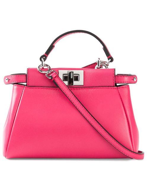 Fendi | Женское Розовый Micro Peekaboo Tote