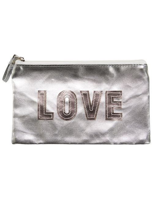 Sub | Женское Серебристый Love Make-Up Bag