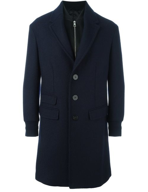 Neil Barrett | Мужское Синее Однобортное Пальто