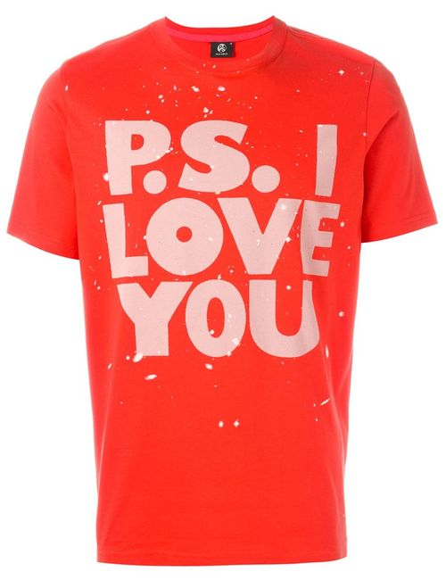 PS PAUL SMITH | Мужское Красный P.S. I Love You Print T-Shirt