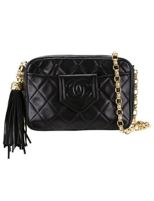 Chanel Vintage | Женское Чёрный Quilted Shoulder Bag