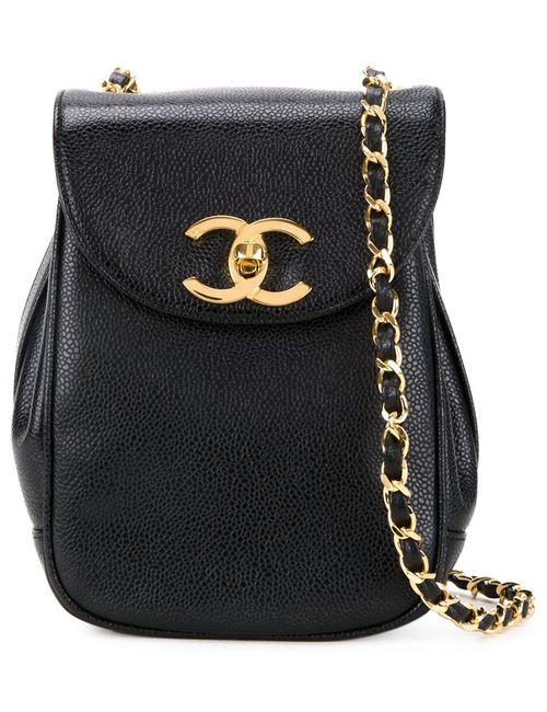 Chanel Vintage | Женская Чёрная Сумка Через Плечо
