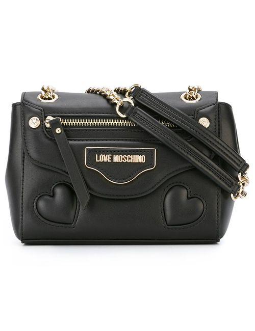 Love Moschino | Женская Чёрная Сумка На Плечо С Логотипом