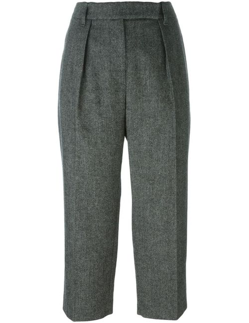 Brunello Cucinelli | Женское Чёрный Front Pleat Cropped Trousers