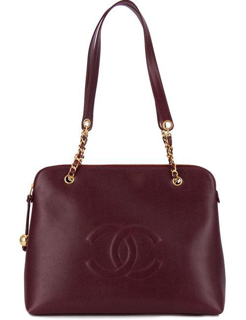 Chanel Vintage   Женская Розовая Сумка На Плечо С Цепочной Отделкой