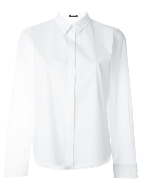 Jil Sander Navy | Женская Белая Рубашка Свободного Кроя