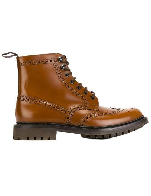 Church'S | Мужские Коричневые Ботинки С Вырезными Деталями