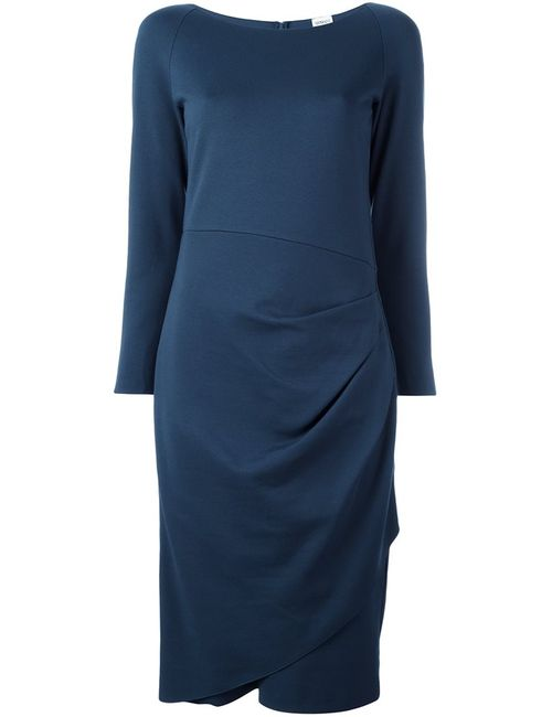 Armani Collezioni | Женское Синее Драпированное Платье