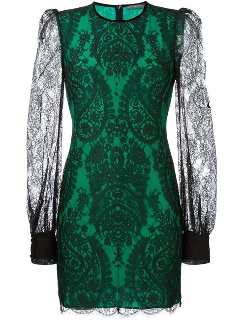 Alexander McQueen | Женское Чёрное Кружевное Платье