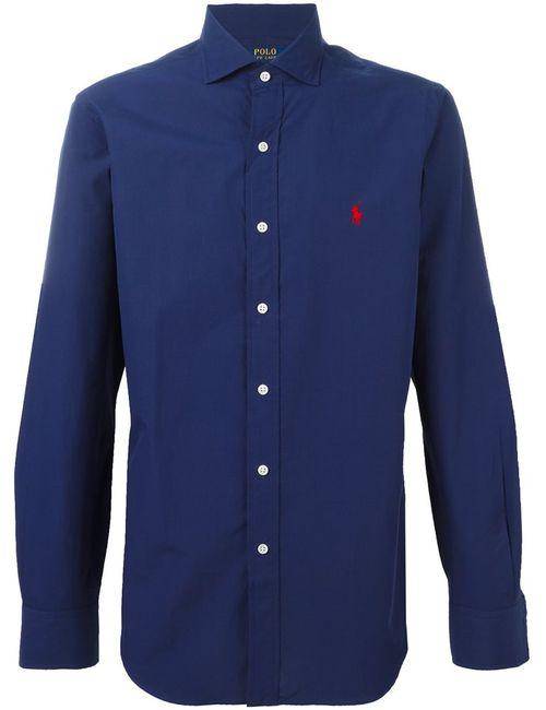 Polo Ralph Lauren | Мужская Синяя Рубашка С Логотипом