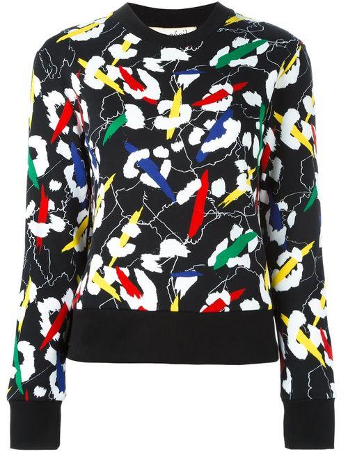 ÊTRE CÉCILE | Женское Чёрный Être Cécile Abstract Print Sweatshirt