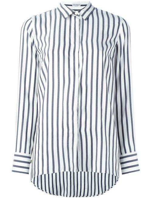 Brunello Cucinelli | Женское Белый Striped Shirt