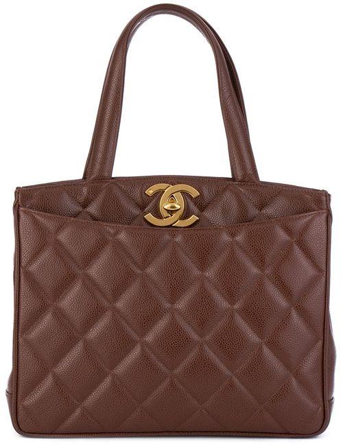 Chanel Vintage | Женское Коричневый Quilted Tote