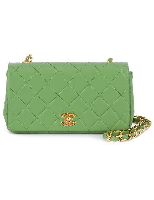 Chanel Vintage | Женское Зелёный Quilted Chain Shoulder Bag