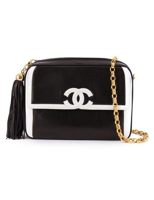 Chanel Vintage | Женское Чёрный Contrast Logo Crossbody Bag