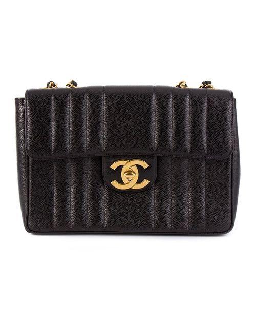 Chanel Vintage | Женское Чёрный Jumbo Quilted Shoulder Bag