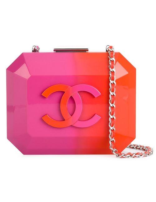 Chanel Vintage | Женский Жёлтый Клатч-Футляр С Логотипом