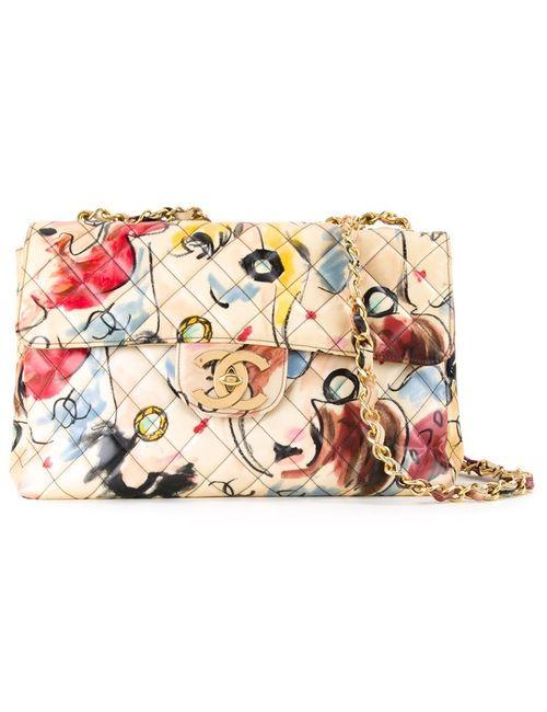 Chanel Vintage | Женская Многоцветная Сумка На Плечо С Откидным Клапаном