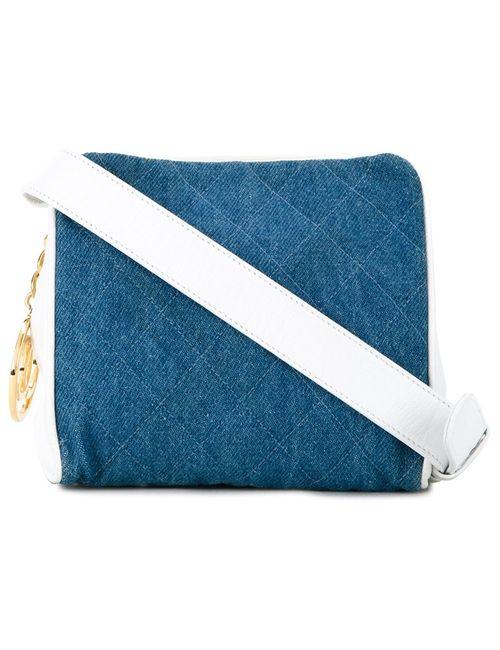 Chanel Vintage | Женская Синяя Джинсовая Сумка На Пояс