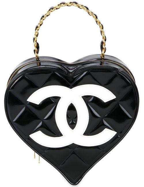 Chanel Vintage | Женская Чёрная Сумка-Тоут В Форме Сердца