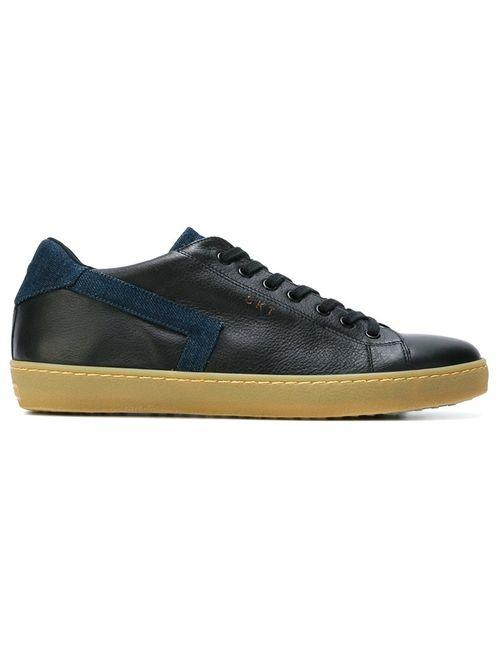 Leather Crown | Мужские Чёрные Классические Кеды На Шнуровке