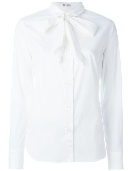 Brunello Cucinelli | Женская Белая Рубашка С Завязками На Бант