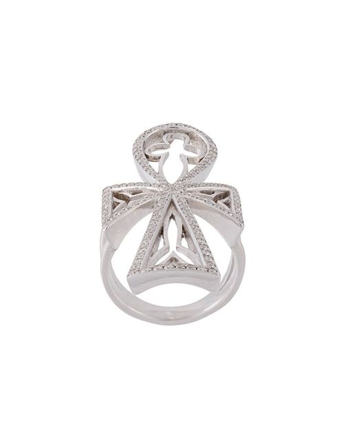 LOREE RODKIN | Женское Серебристый Diamond Maltese Cross Ring