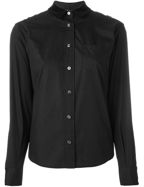Sacai | Женская Чёрная Рубашка С Кружевными Вставками